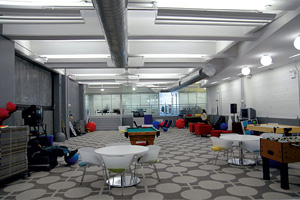 Google NYC's gaming area