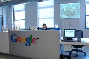 Google's NYC reception area