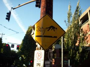 Bike Crashing Sign