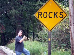 Yellow Rocks Sign