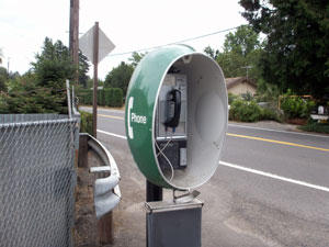 Green Space Age Pay phone