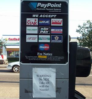 Gas Pump Warning Sign